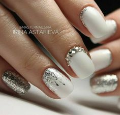 Glam Nails, Beauty Nails, Toe Nails, Pink Nails, White Nails, Elegant Nails, Classy Nails, Gorgeous Nails, Pretty Nails