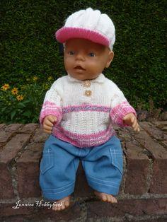 Wintertrui, pet en stoere broek voor Babyborn 43cm