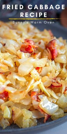 This delicious Fried Cabbage Recipe is a staple in our house. Whether you make it with fresh cabbage during the Spring or Fall youre going to love it! Side Dish Recipes, Vegetable Recipes, Easy Dinner Recipes, Easy Meals, Fried Cabbage Recipes, Baked Cabbage, Cabbage Steaks, Kitchen Recipes, Cooking Recipes