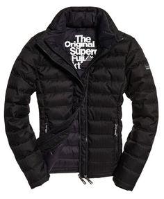 Superdry Double Zip Tweed Fuji Jacket Black