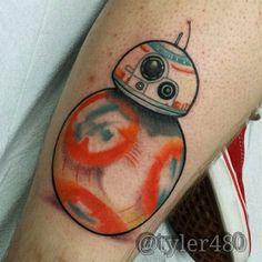 New cool tattoo | BB8 star wars soccer ball droid r2d2 force ...