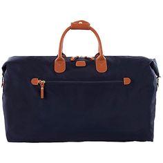 Buy Bric's X Travel Nylon Leather Trim Medium Holdall, Blue Online at johnlewis.com