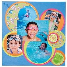 scrapbooking ideas | Scrapbook Layout Ideas Vacation | Swimming, Lakes, Rivers, Summer