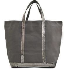 34e33b6bf9c Vanessa Bruno M+ Medium sequined canvas tote ( 255) ❤ liked on Polyvore  featuring bags