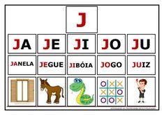 Atividades de Sílabas e palavras para imprimir Portuguese Lessons, Literacy, Homeschool, Playing Cards, Activities, Education, Games, Feliciano, Gabriel