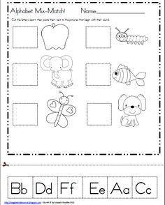 Maggie's Kinder Corner: Here's what you have been asking for! Alphabet Mix-Match A-Z! FREEBIE :)