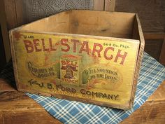 Old crates are so fun! This is from Hannah House Antiques on Rubylane