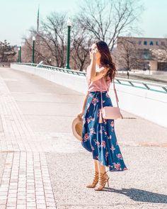 Wrap Floral Skirt | Chic and Feminine Style | Spring Look | Moda Feminina