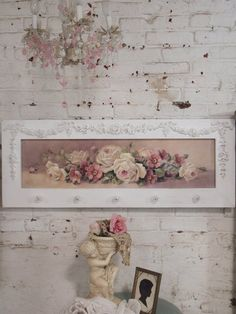 Painted Cottage Chic Shabby Chrisite Repasy Melissa Romantic Rose Canvas Print - Painted Cottage Chic Shabby Romantic Rose by paintedcottages - Rosa Shabby Chic, Shabby Chic Vintage, Style Shabby Chic, Look Vintage, Shabby Chic Decor, Shabby Chic Colors, Cottage Chic, Romantic Cottage, Romantic Roses