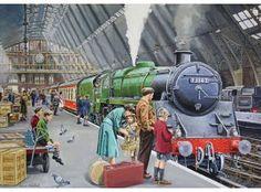 St Pancras in the Nostalgia, Old Steam Train, Nostalgic Pictures, Steam Railway, Train Art, Train Engines, Train Tickets, Steam Locomotive, The Good Old Days