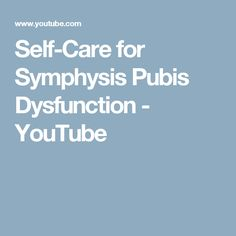 Symphysis Pubis Dysfunction (SPD) is a painful condition that occurs when the anterior pelvis comes out of alignment. Pubis Symphysis Dysfunction, Pelvic Floor Exercises, Low Back Pain, Pregnancy Workout, I Work Out, Self Care, Encouragement, Tips, Youtube