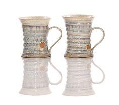 Hand thrown stoneware mugs €17