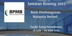 Bank Pembangunan Malaysia Berhad Jawatan Kosong BPMB 16 Juni - 09 Julai 2017  Bank Pembangunan Malaysia Berhad (BPMB) calon-calon yang sesuai untuk mengisi kekosongan jawatan BPMB terkini 2017.  Jawatan Kosong BPMB 16 Juni - 09 Julai 2017  Warganegara Malaysia yang berminat bekerja di Bank Pembangunan Malaysia Berhad (BPMB)  dan berkelayakan dipelawa untuk memohon sekarang juga. Jawatan Kosong BPMB Terkini 16 Juni - 09 Julai 2017: 1. Senior Executive Group Audit & Examination 2. Head…