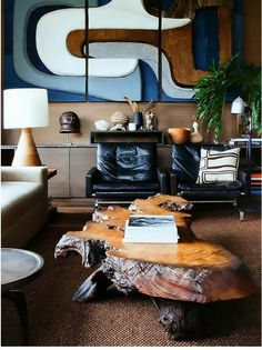 There's some serious mojo working in this space with all the colors, textures, and big pieces. Nice!
