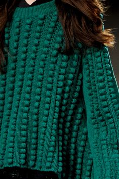 green-booble-sweater-Just-Cavali-fashion-inspiration-runway-image.jpg (600×901)