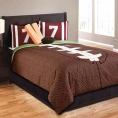 Hallmart Collectibles Touchdown Football Bedding By Hallmart Collectibles Bedding, Comforters, Comforter Sets, Duvets, Bedspreads, Quilts, Sheets, Pillows: The Home Decorating Company