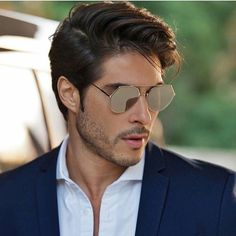 Shop for Brand New Sunglasses, Hot Selling Eyeglasses, Supperstar Wearing Sunglasses from Reliable Online Store. Men Sunglasses Fashion, Cool Sunglasses, Prada Sunglasses, Funky Glasses, Mens Glasses, Clear Aviator Glasses, Photography Poses For Men, Mens Fashion Blog, Fendi