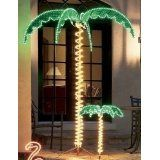 Tropical Lighted Holographic Rope Light Outdoor Palm Tree Yard Decoration from Christmas Central - 7 Foot Holographic Lighted Palm Tree From the Tropical Collection Item Palm Tree Lights, Fake Palm Tree, Led Rope Lights, Tree Lighting, Outdoor Lighting, Palm Trees, Lighting Ideas, Backyard Lighting, Bar Lighting