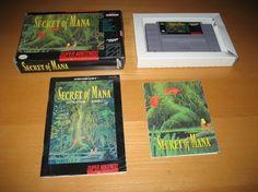 Secret of Mana Super Nintendo SNES Original Game Complete #gamer