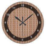 Basketweave Tan Diagonal Weave Clocks  #Basketweave #BasketweaveTan #clocks #Diagonal #RusticClock #Weave The Rustic Clock