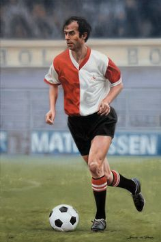 Portrait of Coen Moulijn.  Collection of the Feyenoord museum. 23,6' x 35,4' in. Oil on linen. By:©Lorenzo de Bruin https://www.facebook.com/lorenzo.debruin
