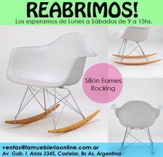 Silla Eames Rocking en:  www.LaMuebleriaOnLine.com.ar