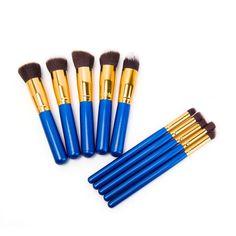 Bold Gold & Blue Brush Set (10pc-set), 48% discount @ PatPat Mom Baby Shopping App