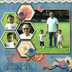 Layout using one of Sherwood Studio's The Photo Project-Photo Clusters-Geometric.  Also used her Hope Springs Eternal collection. on sale at 20% off at Scrapbookgraphics Wordart is from The Men In Our Lives Wordart pack by Word Art World at Gotta Pixel and Gingerscraps