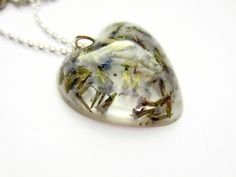 Real Flower Necklace  Real Lavender Flowers in by BecauseofAnnie, £18.00
