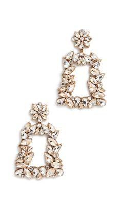 Deepa Gurnani Deepa by Deepa Gurnani Gold Crystal Earrings Crystal Earrings, Gold Earrings, Deepa Gurnani, Lace Cuffs, Stainless Steel Material, India Fashion, Heart Ring, Women Accessories, Dangles