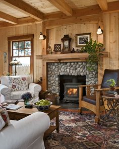 The compact cottage is warm and welcoming, and offers stunning views of Puget Sound
