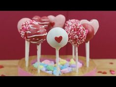How to Make Valentine's Day Cake Pops! - YouTube