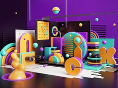Peter Tarka on Behance Tv Set Design, Web Design, Stage Design, Booth Design, Event Design, Design Art, Cinema 4d, Geometric Graphic, 3d Typography