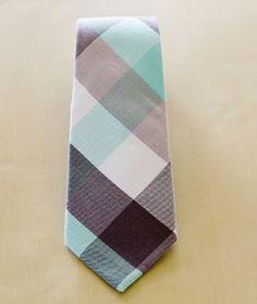 Mint Grey Plaid | Mosaic Tie, $14.50  OR  A bedroom color scheme?