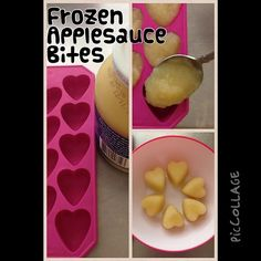 Look at this yummy summer-fun treat. Use some organic applesauce or make your own, like this recipe, http://bit.ly/1rzQweZ, then spoon into a tray and freeze them. #cleancuisine