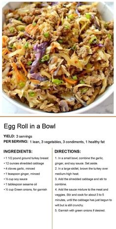Beef Recipes, Asian Recipes, Chicken Recipes, Cooking Recipes, Healthy Recipes, Healthy Foods, Cabbage Recipes, Delicious Recipes, Healthy Life