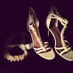Pulsera y Zapatos para Novia - Perlas Bohemia y Cristales Checos