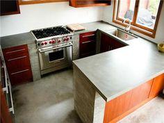 Grey Countertop  Concrete Countertops  Concrete Wave Design  Anaheim, CA