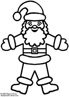 Christmas Coloring Pages   Santa Claus Christmas Coloring Page