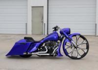 Blue30RoadKing Custom Bagger