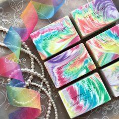 cosmic swirl handmade soap, by cocoaroma123
