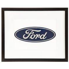Ford Logo Black Framed Gallery Wall Art⎜Open Road Brands