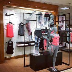 WEBSTA @ visualmerchandisingdaily - Nike active #visualmerchandising #athleisure #activewear #macys #retaildisplay #retaillife #nike #vmdaily Via @benjammin1991