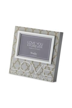 "Format: Frame Name: Love You x Forever Photo Frame Packaging Info: Gift Box Materials: wood composite, glass Measurements: 8""h Holds 6.0 x 4.0 photos Seasonality: Everyday Sentiment: Love you x forever UPC: 638713316035   Love You Forever Frame by Walker's. Home & Gifts - Home Decor - Frames Alabama"