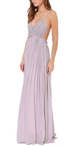 Oure Women Sexy Bohemian Embroidery Backless Pleat Maxi Full Dress at Amazon Women's Clothing store: