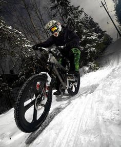 ♂Snow mountain bike outdoor sport  Downhill