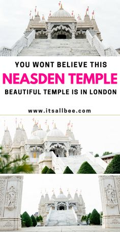 Indian Temples Architecture - You wont believe this beautiful temple is in London - Neasden Temple London #temples #thingstodo #uk #architecture #indian #hindu #religion #travelblogger #mustsee #musthave