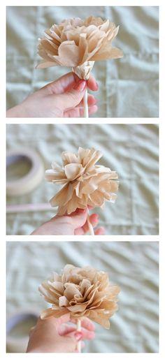 DIY Coffee Filter Rose Tutorial | Ruffles & Truffles