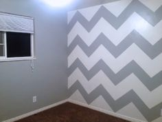 How to paint a chevron accent wall.