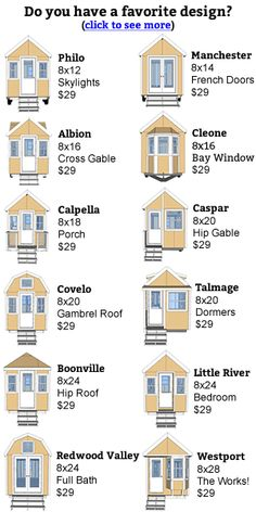 Tiny House Plans Calpella and Cleone